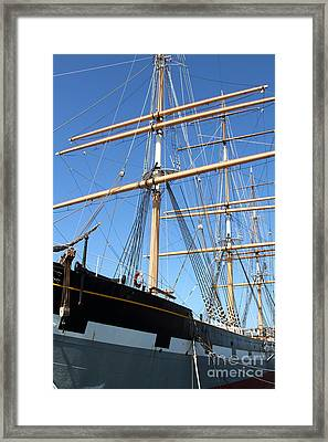 The Balclutha . A 1886 Square Rigged Cargo Ship At The Hyde Street Pier In Sf California . 7d14135 Framed Print