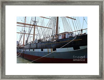 The Balclutha . A 1886 Square Rigged Cargo Ship At The Hyde Street Pier In Sf California . 7d14153 Framed Print