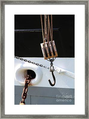The Balclutha . A 1886 Square Rigged Cargo Ship At The Hyde Street Pier In Sf . Hook . 7d14165 Framed Print