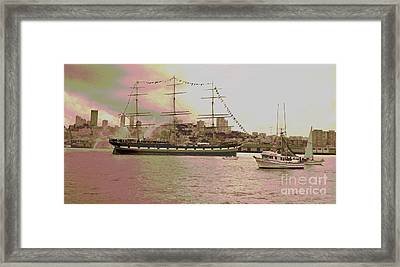 The Balclutha Leaves Pier 41 Framed Print by Padre Art
