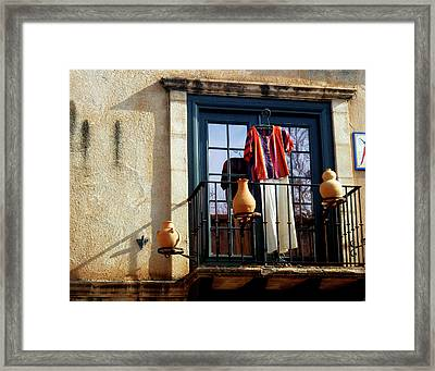 Framed Print featuring the photograph The Balcony by Helen Haw