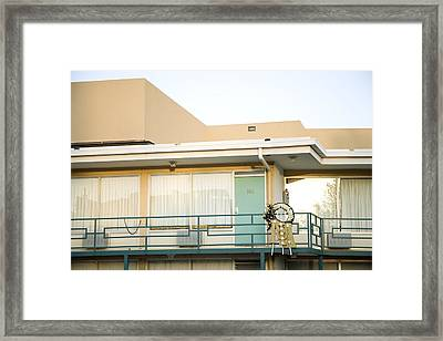 The Balcony Of The Lorraine Motel Where Framed Print