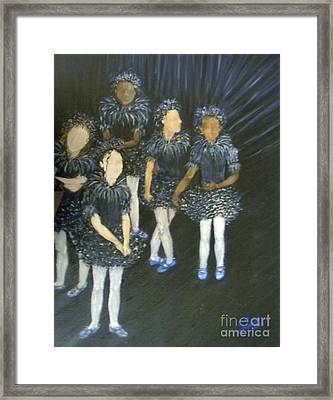 The Ballet Dancers Behind The Scene  Framed Print by Sara Garcia