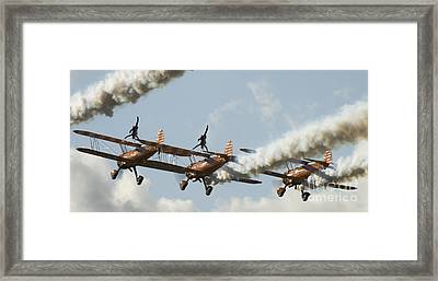 The Ballet Under The Skies Framed Print by Angel  Tarantella