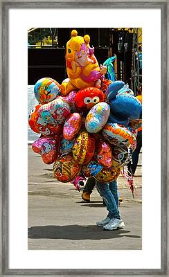 The Balloon Lady Framed Print by Jocelyn Kahawai