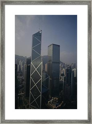 The Bank Of China Building Left Framed Print