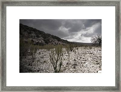 The Bank Of The Nueces River Framed Print