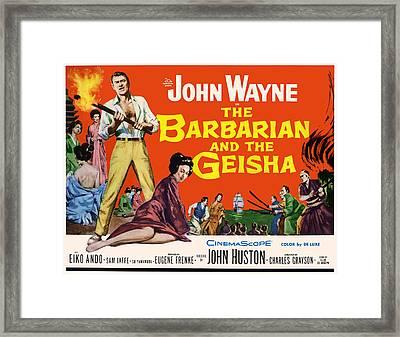 The Barbarian And The Geisha, John Framed Print by Everett