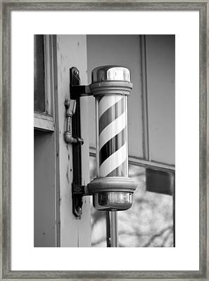 The Barber Shop 4 Bw Framed Print by Angelina Vick