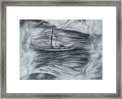 The Barge Framed Print by C Nick