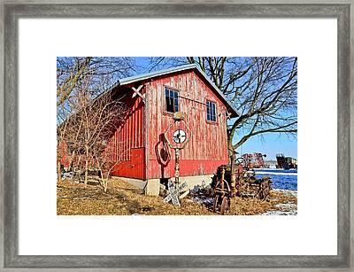 The Barn Framed Print by Brenda Becker