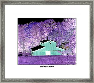 The Barn Negative Inverted Effect Framed Print by Rose Santuci-Sofranko