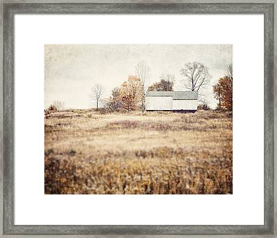 The Barn On The Hill Framed Print by Lisa Russo