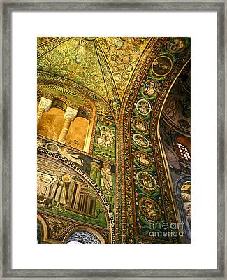 The Basilica Di San Vitale In Ravenna - 03 Framed Print by Gregory Dyer
