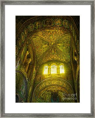 The Basilica Di San Vitale In Ravenna Framed Print by Gregory Dyer