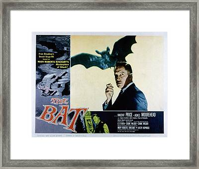 The Bat, Vincent Price, 1959 Framed Print by Everett