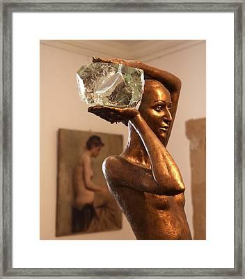 The Bather Framed Print by Enzie Shahmiri