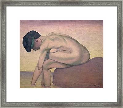 The Bather Framed Print by Felix Edouard Vallotton
