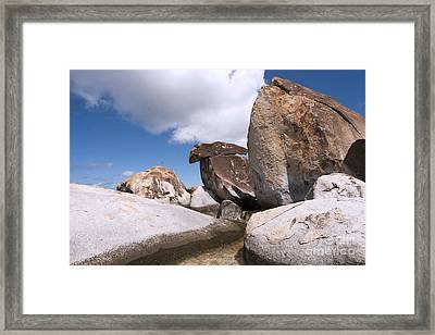 Framed Print featuring the photograph The Baths by Leslie Leda