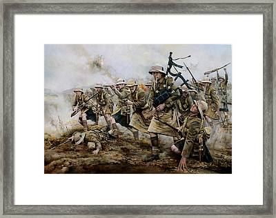 The Battle Of Achi Baba 1915 Framed Print by Chris Collingwood