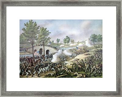 The Battle Of Antietam, September 17 Framed Print by Everett