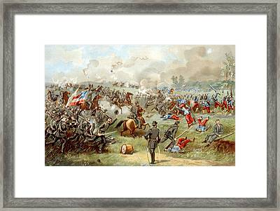 The Battle Of Bull Run, Confederate Framed Print
