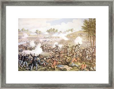 The Battle Of Bull Run On July 21 Framed Print