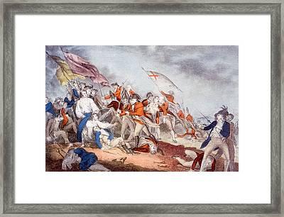 The Battle Of Bunker Hill, June 17 Framed Print by Everett