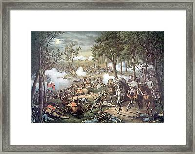 The Battle Of Chancellorsville, May Framed Print by Everett