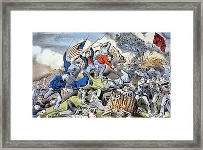 The Battle Of Chattanooga, November Framed Print by Everett