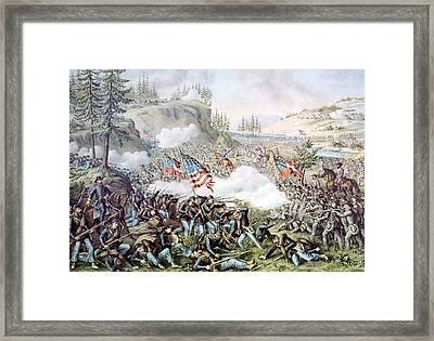The Battle Of Chickamauga, September Framed Print