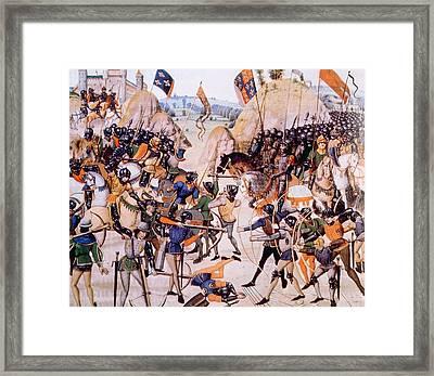 The Battle Of Crecy, Edward IIi Framed Print