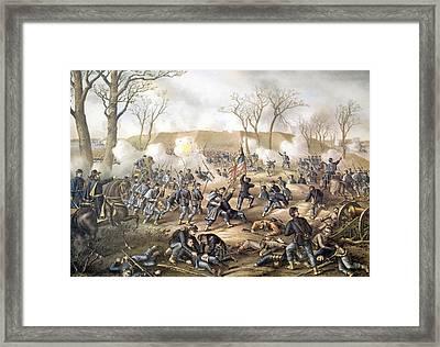 The Battle Of Fort Donelson, February Framed Print by Everett
