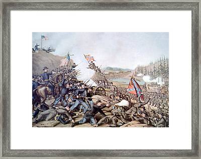 The Battle Of Franklin, November 30 Framed Print by Everett