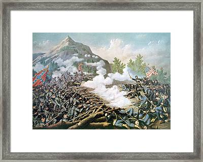 The Battle Of Kennesaw Mountain, June Framed Print by Everett