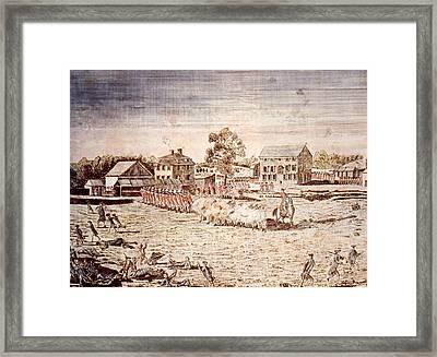 The Battle Of Lexington, April 19, 1775 Framed Print