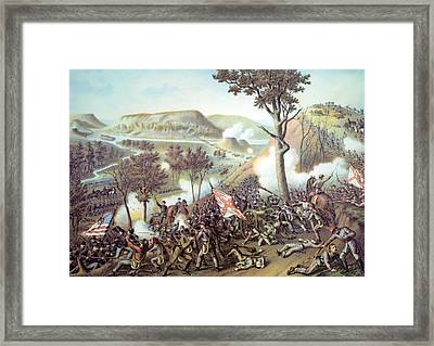 The Battle Of Missionary Ridge Framed Print by Everett