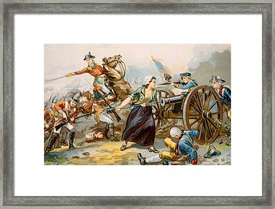 The Battle Of Monmouth, Mary Ludwig Framed Print by Everett