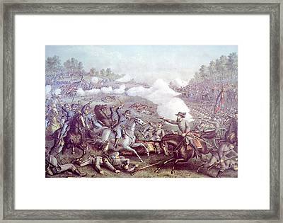 The Battle Of Opequon, Steptember 19 Framed Print by Everett