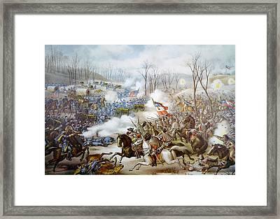 The Battle Of Pea Ridge, Arkansas Framed Print