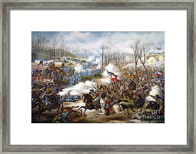 The Battle Of Pea Ridge, Framed Print by Granger