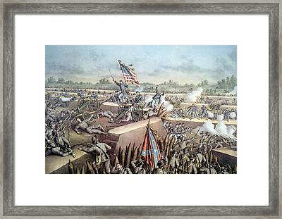 The Battle Of Petersburg, The Fall Framed Print