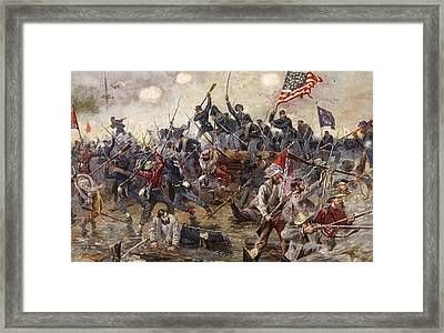 The Battle Of Spotsylvania Framed Print