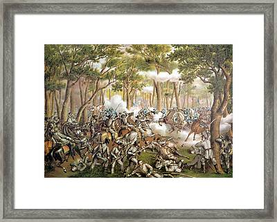The Battle Of The Wilderness, May 6 Framed Print