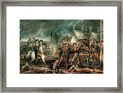 The Battle Of Trenton 1776 Framed Print by Photo Researchers