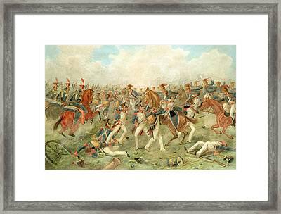 The Battle Of Vitoria June 21st 1813 Framed Print by John Augustus Atkinson