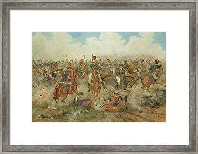 The Battle Of Waterloo June 18th 1815 Framed Print by John Augustus Atkinson