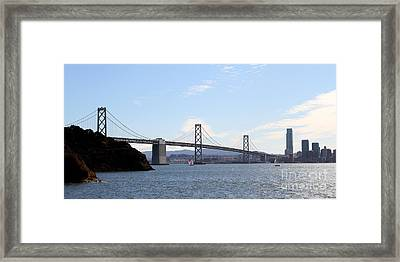 The Bay Bridge And The San Francisco Skyline Viewed From Treasure Island . 7d7778 Framed Print by Wingsdomain Art and Photography