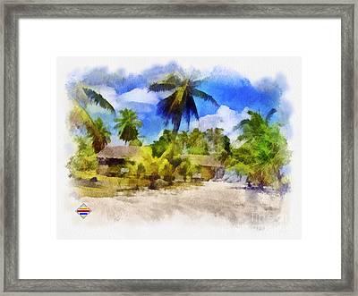 The Beach 01 Framed Print by Vidka Art