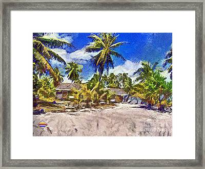 The Beach 02 Framed Print by Vidka Art
